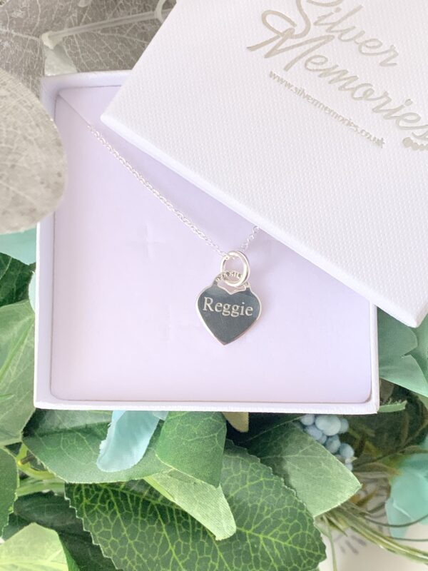 Sterling Silver heart name necklace